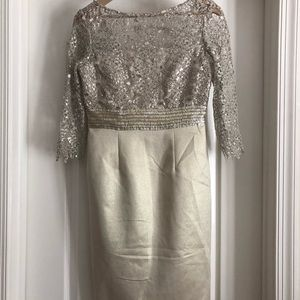 Lace, mid length dress - worn once!